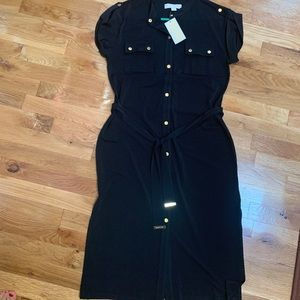 Michael Kors Black Dress w/ Tie